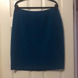 NWT Jones Studio Teal Blue Pencil Skirt (14W)